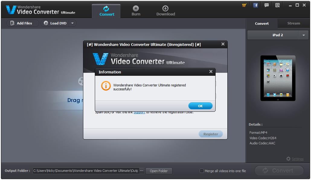 WonderShare Video Converter Ultimate 8 Serial Keys Free Download